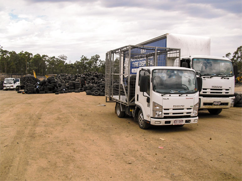 tyre recycling Truck